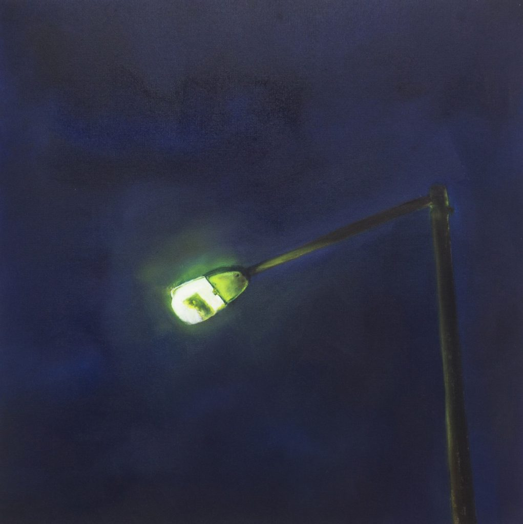 Sotiris Panousakis, Green light, 2020, oil on paper, 65 x 50 cm
